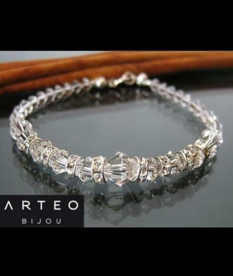 Bransoletka ślubna Swarovski Crystal 448