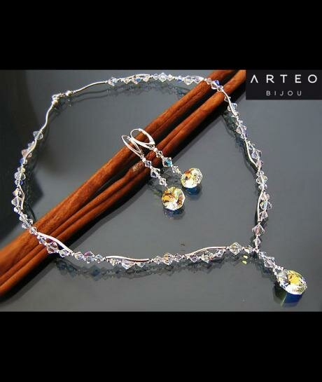 Swarovski Octagon Crystal AB 309