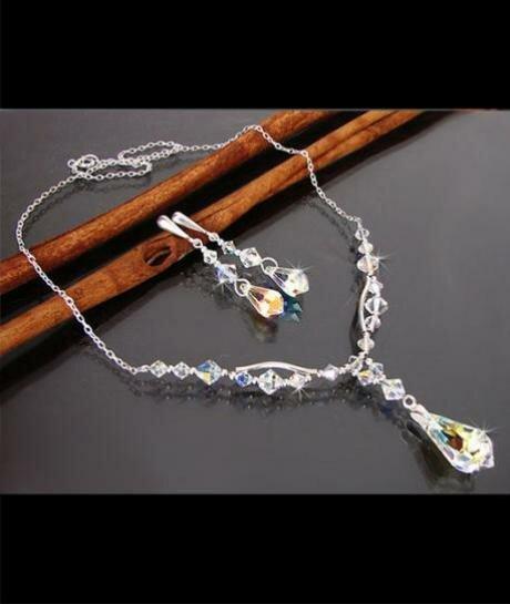 Swarovski Teardrop Crystal AB 190
