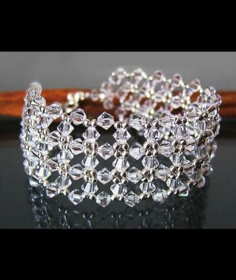 bransoleta Swarovski Crystal (szeroka) 172