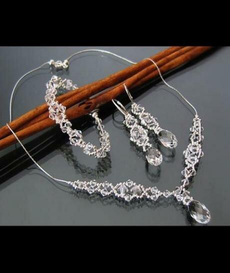 Komplet ślubny Swarovski Crystal 566