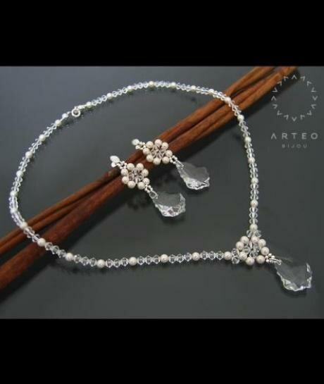 Komplet ślubny Swarovski crystal 852