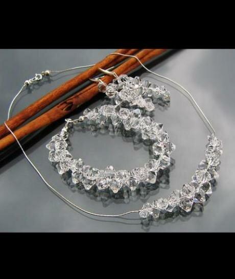 Komplet ślubny Swarovski Crystal 618