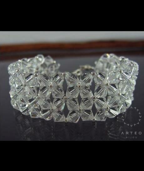 Bransoleta SWAROVSKI ślubna crystal 1030