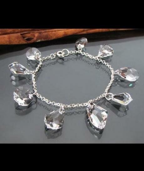 Bransoleta ślubna SWAROVSKI crystal charms 773
