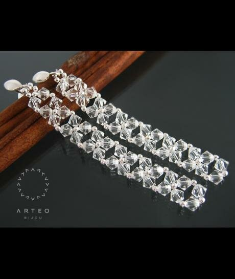 Kolczyki ślubne swarovski crystal 805