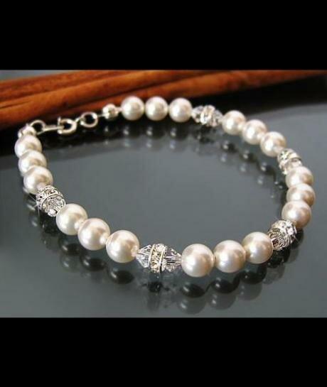 Bransoletka ślubna Swarovski White, Crystal 450