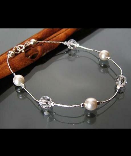 bransoletka Swarovski Perły i Kryształy 496