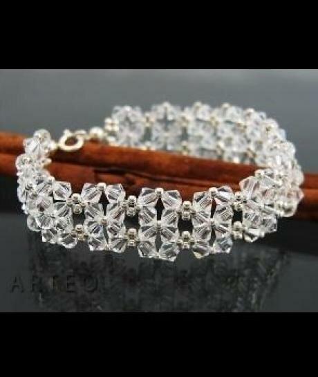 Bransoleta ślubna SWAROVSKI crystal biżuteria ślubna 896